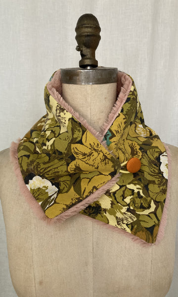 Upcycled Floral Neck Warmer