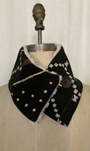 Black Mud Cloth Neck Warmer