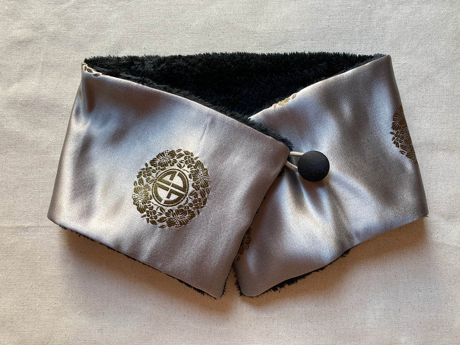 Asian Medallion Brocade Neck Warmer