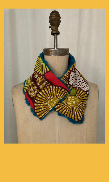 Bright African Print Neck Warmer
