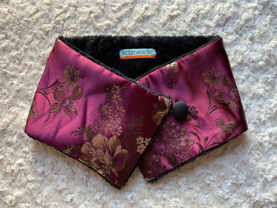 Burgundy Floral Neck Warmer