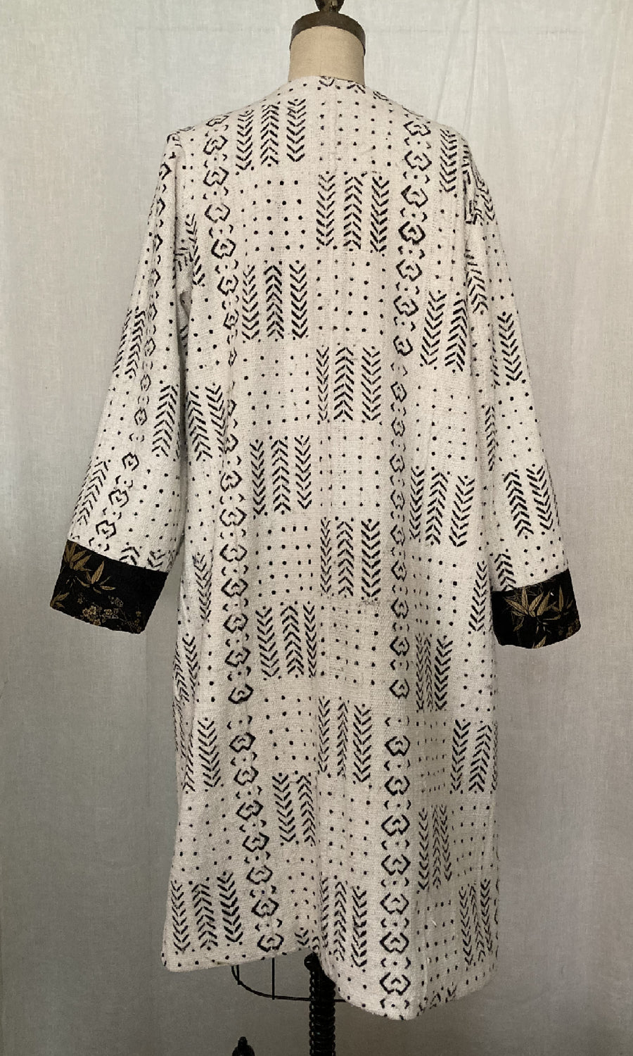 White African Mud Cloth Coat