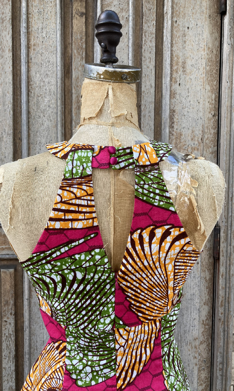 African Print Asymmetrical Top
