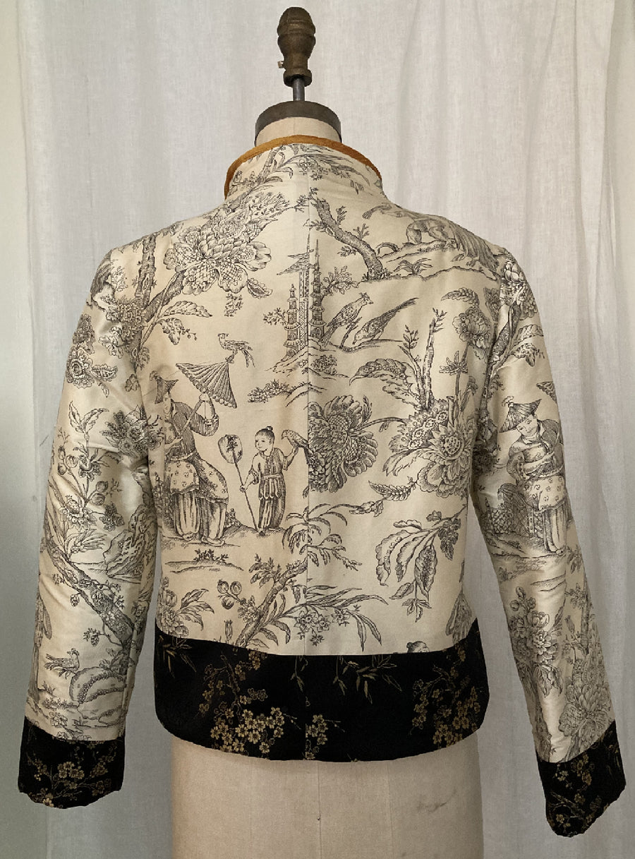 Reversible Toile & Quilted Jacket, size Medium