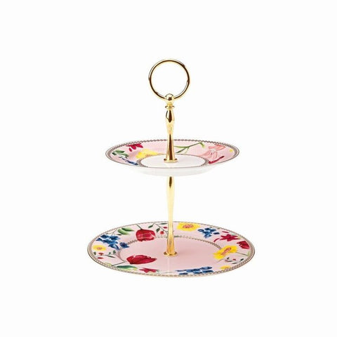 Tea's & C's 2 Tier Cake Stand, Rose