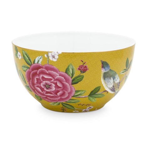 Pip Blushing Birds Yellow Bowl