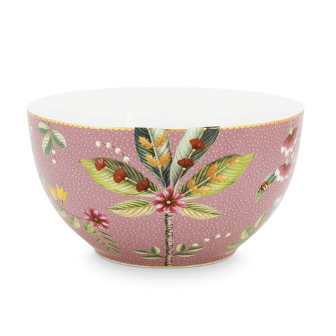 Pip Patterned Bowl, Pink