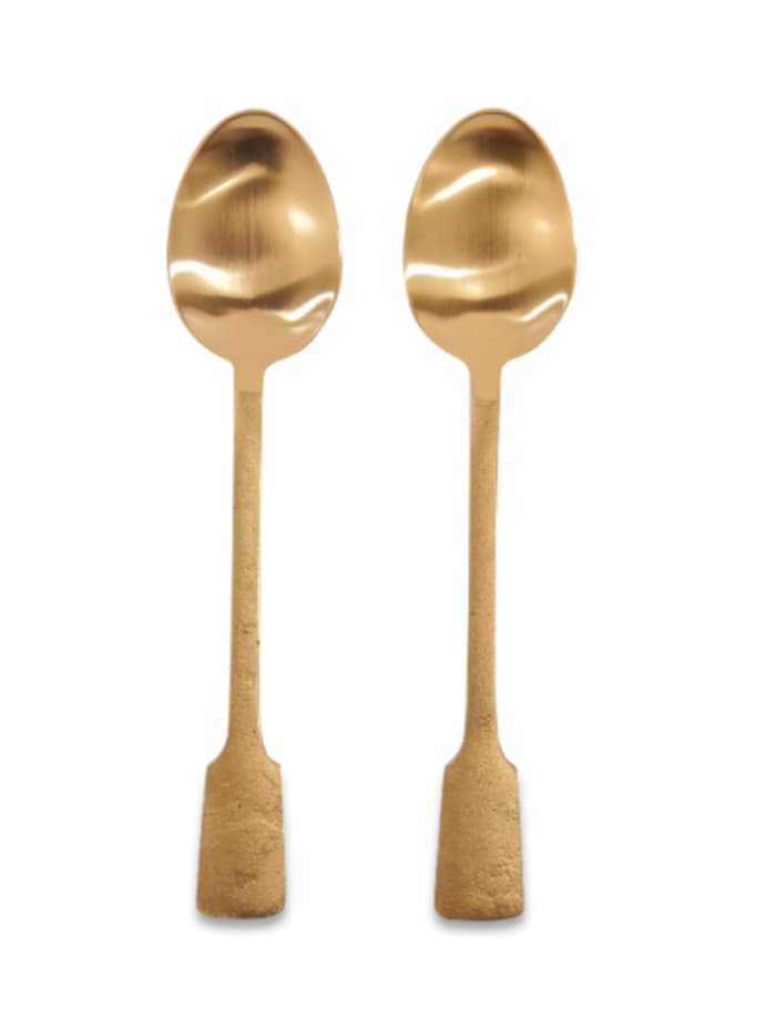 Brushed Gold Serving Spoons