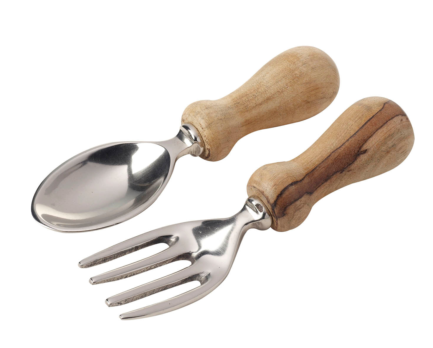 Wood/Aluminium Salad Servers