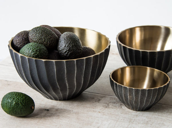 Black and Gold Bowl, Large
