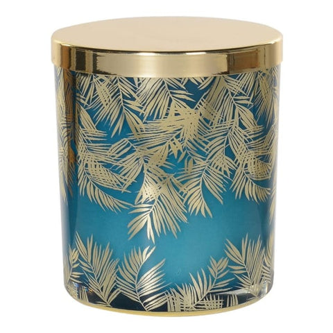Gold/Green Leaf Candle
