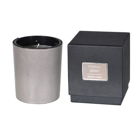 Grey Leather Candle