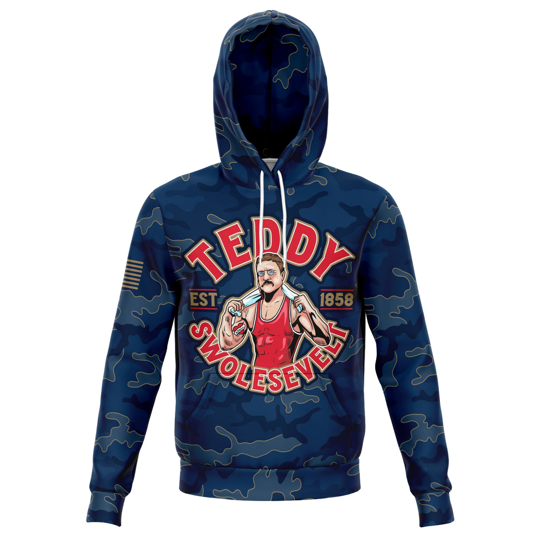 Teddy Swolesevelt - Athletic Hoodie