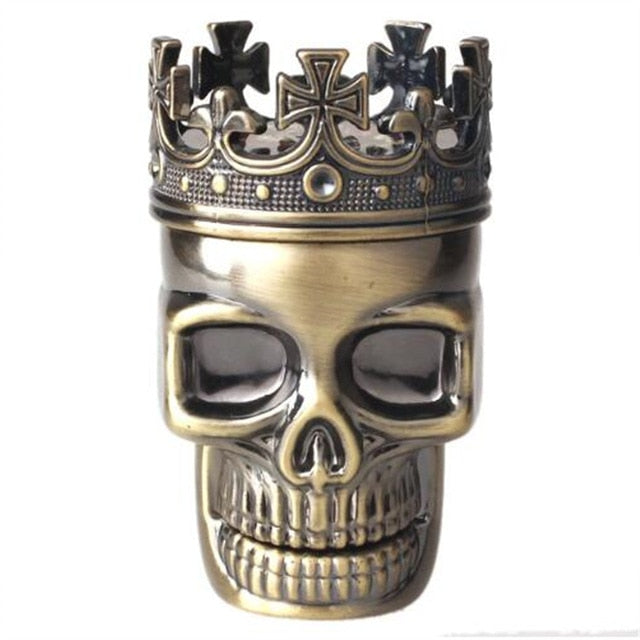 King Skull 3 Piece Herb Grinder Aluminum Large 2.5