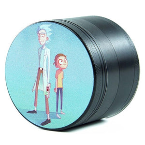 "Rick & Morty Inspired 4 Layers Aluminum 2.5"" Large Herb Grinders"