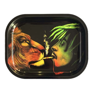Metal Cigarette Rolling Tray/Ashtray for Tobacco