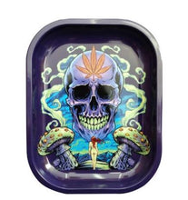 Load image into Gallery viewer, Metal Cigarette Rolling Tray/Ashtray for Tobacco