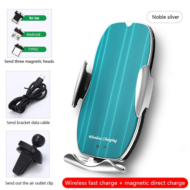 Wireless Car Charger Mount, 15W Qi Fast Charging Auto-Clamping Car Phone Holder Compatible iPhone 11/11 Pro/11 Pro Max/Xs MAX/XS/XR/X/8/,Samsung S10/S10+/S9/S9+/S8+