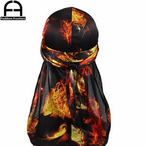 Premium Silky Durags with Long Tail Colorful 360 Waves
