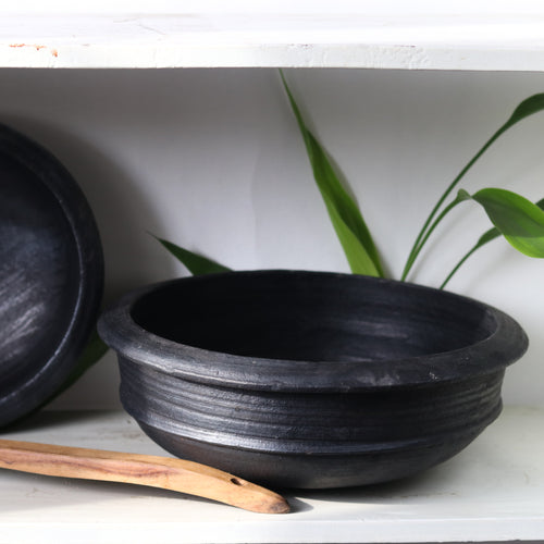Blackened Clay Pot from Green Heirloom