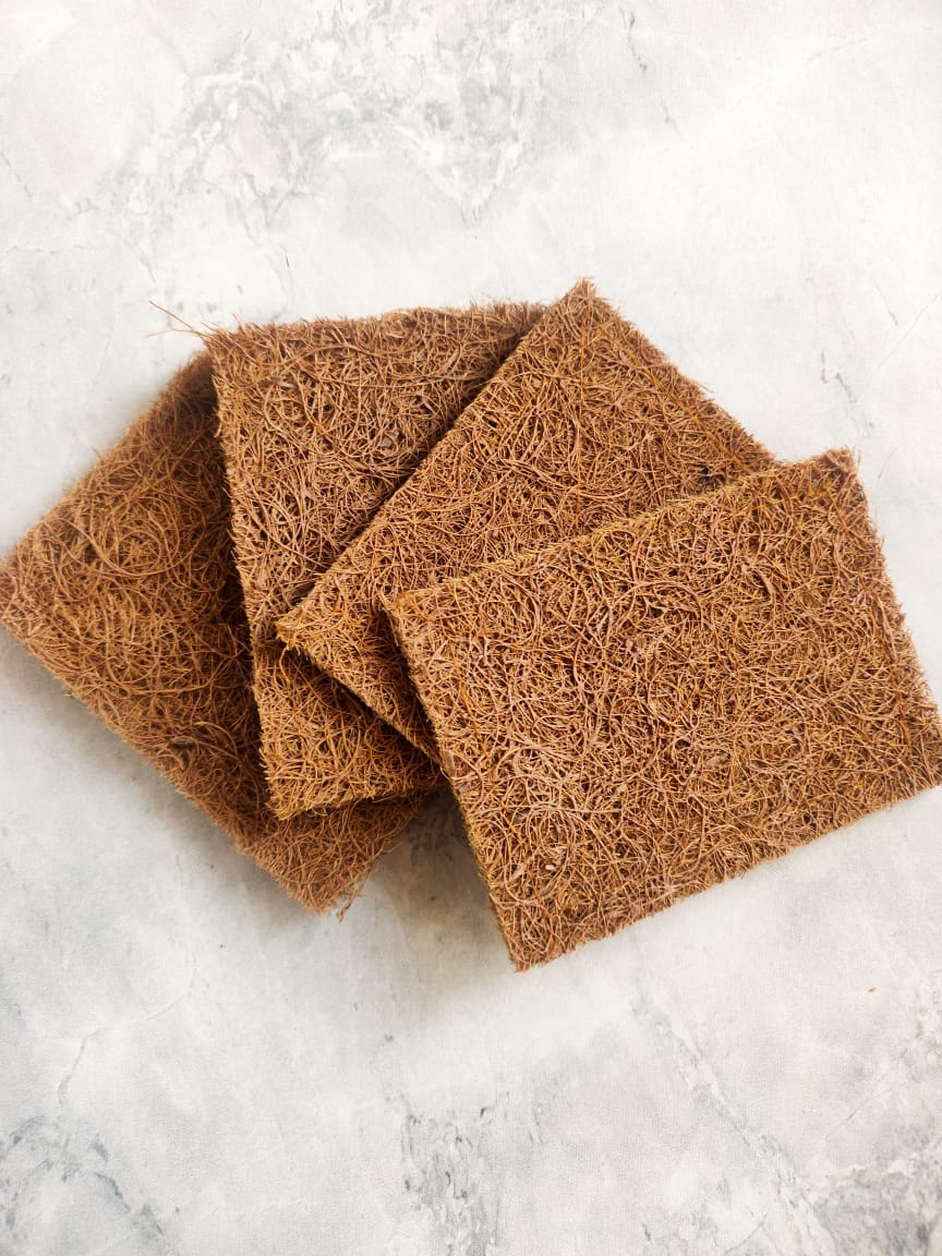 Sustainable coconut coir plastic free  scouring pad