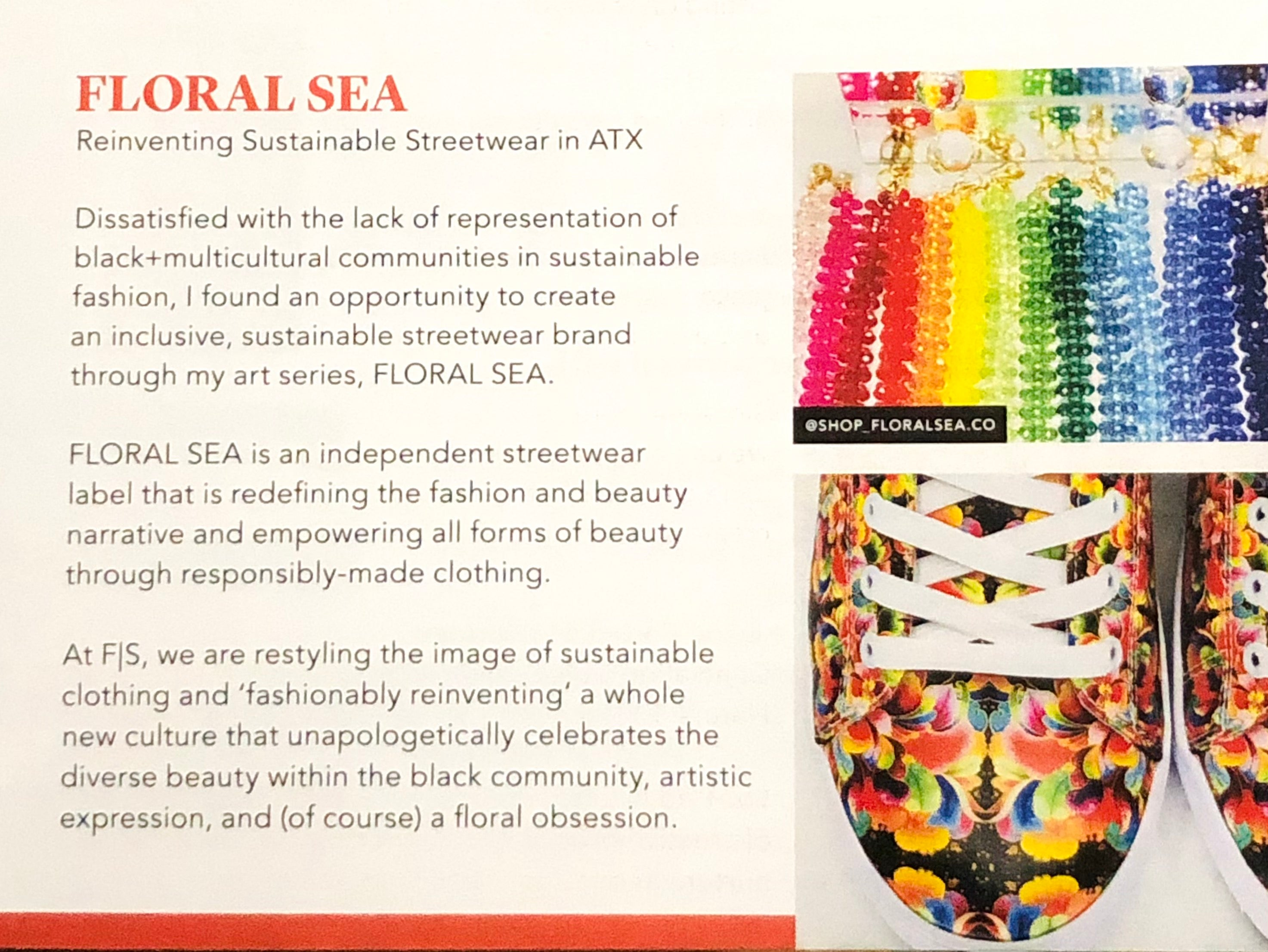❁FLORAL SEA❁ Physical Print in Almost Real Things Issue #19