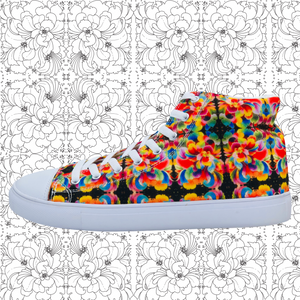 ❁FLORAL SEA❁ Signature Hightop Canvas Shoes (PRE-ORDER) - ❁FLORAL SEA❁