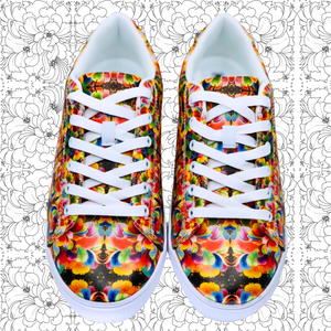 ❁FLORAL SEA❁ Signature Faux-Leather Sneakers (PRE-ORDER) - ❁FLORAL SEA❁