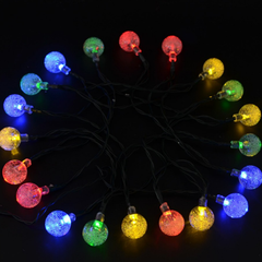 20 LED Solar-Powered Crystal Ball String Lights - BoardwalkBuy - 10
