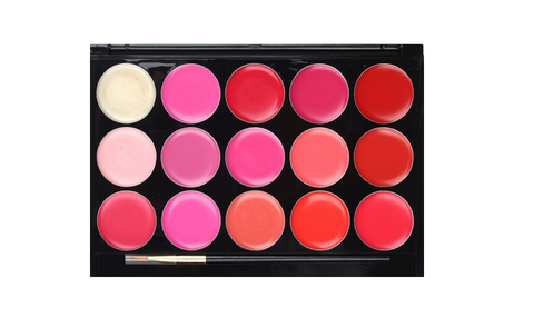 15 Color Lip Gloss Palette