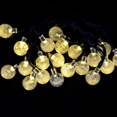 20 LED Solar-Powered Crystal Ball String Lights - BoardwalkBuy - 3