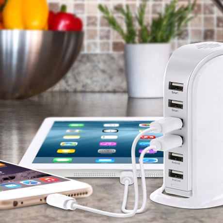30-Watt 6-Port USB Charging Station - BoardwalkBuy - 1