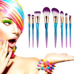 8 Piece Rainbow Mermaid Brush Set    [Pre-Release] , Make Up Brush - My Make-Up Brush Set - US, My Make-Up Brush Set  - 2