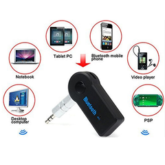2016 Handfree Car Bluetooth Music Receiver Universal 3.5mm Streaming A2DP Wireless Auto AUX Audio Adapter With Mic For Phone MP3
