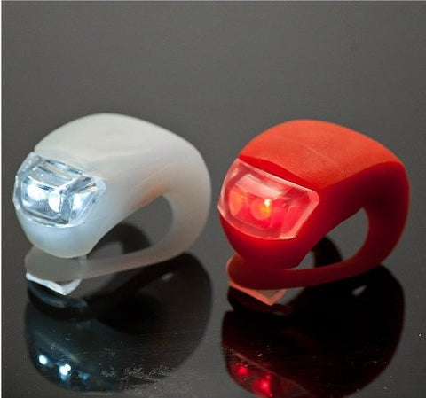Silicone LED Bicycle Lights (2-Pack)