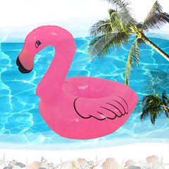 10pcs Mini Pink Flamingo Inflatable Drink Holders