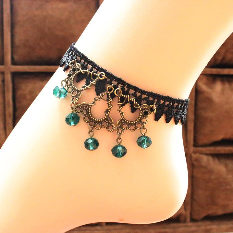Turquoise Raindrop Anklet - Florence Scovel - 1