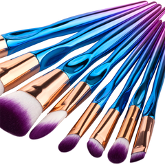8 Piece Rainbow Mermaid Brush Set    [Pre-Release] , Make Up Brush - My Make-Up Brush Set - US, My Make-Up Brush Set  - 4