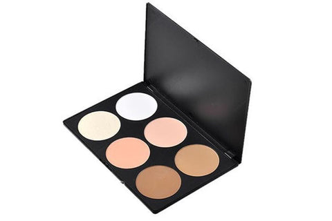 6 Color Blush/Highlighter/Bronzer Palette