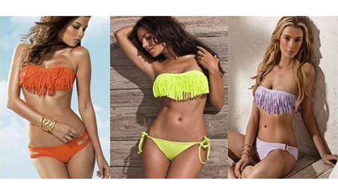 Fringe Top - Bikini Swimwear - Assorted Colors