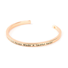 A Smooth Sea Never Made A Skillful Sailor Cuff Bangle - Florence Scovel - 2