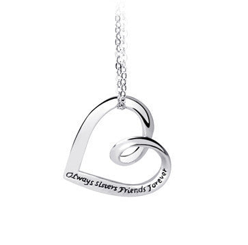 """Always Sisters Friends Forever"" Engraved Necklace"