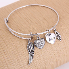 Angel Love Charm Bangle - Florence Scovel - 4