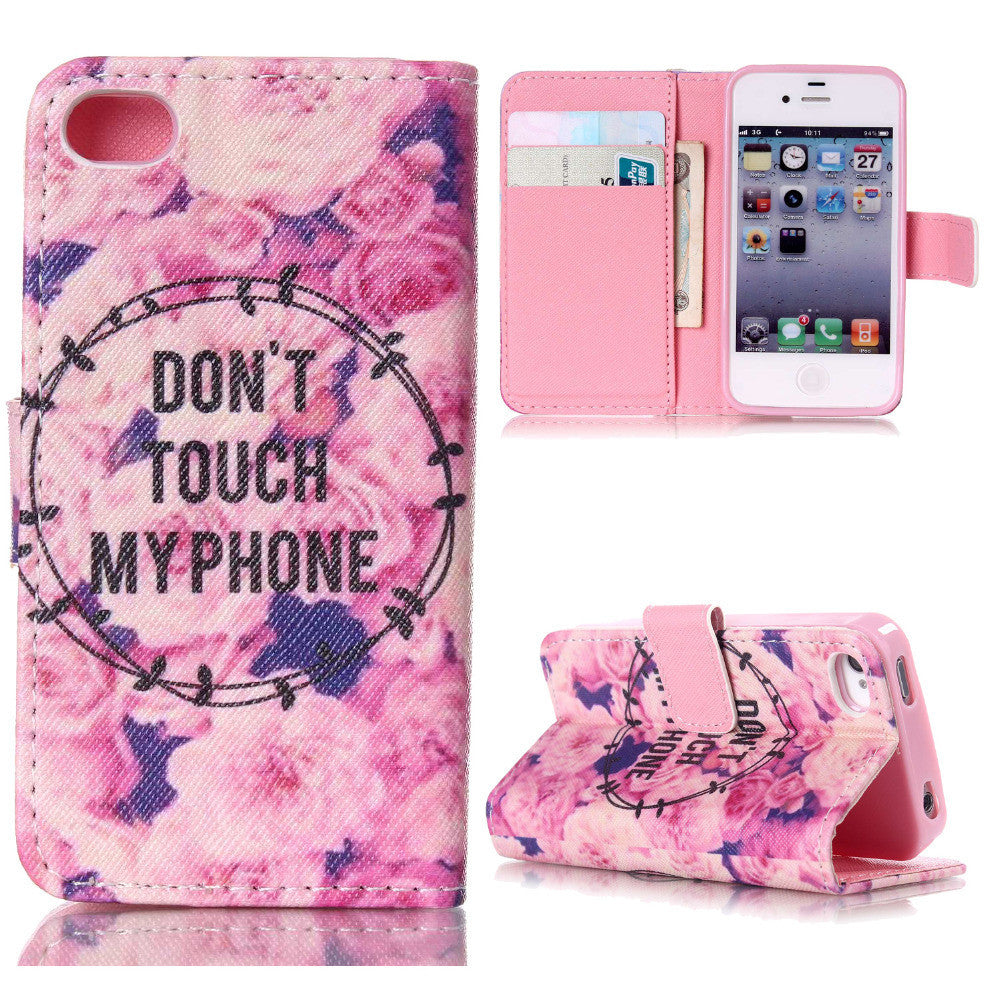 Flower Wallet Stand Case for IPhone 6 Plus