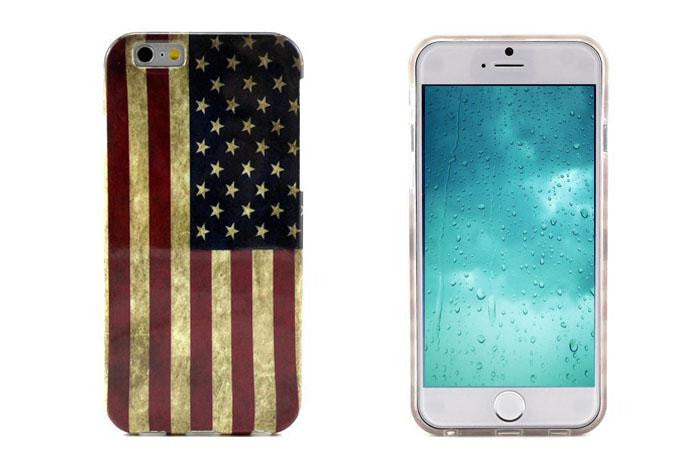 RETRO FLAG TPU CASE FOR IPHONE 6 PLUS