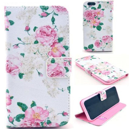 Floral Leather Stand Case For IPhone 6