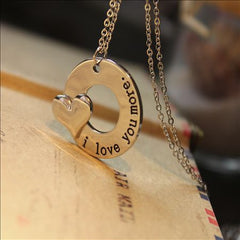 """I Love You More"" Engraved Necklace"