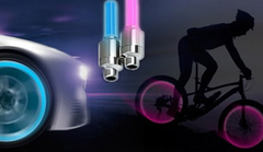 2 Motion Activated LED Valve Stem Lights - Assorted Colors