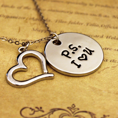 P.S. I love you - Engraved Necklace