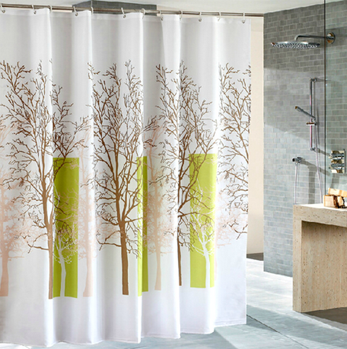 Waterproof Fabric Shower Curtain - Multiple Trees Design